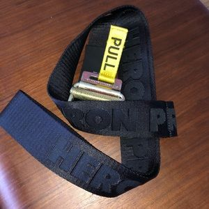 HERON PRESTON Logo Stitch Tape Belt